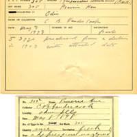 Thomas Wilmer Dewing, egg card # 199