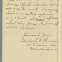 1917-08-21 Miss Bertha V. Plowman to Mrs. F.N. Whitley Page 2