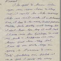 1942-01-22 Lloyd Davis to Laura Davis Page 1