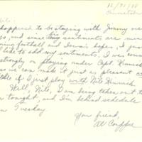 Nile Kinnick correspondence, 1935-1938