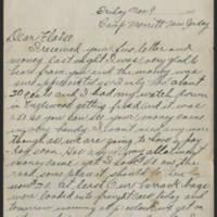 1917-11-09 Harvey Wertz to Miss Eloise Wertz Page 1