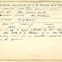 Thomas Wilmer Dewing, egg card # 658u