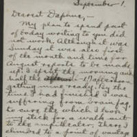 Conger Reynolds correspondence, September 1918