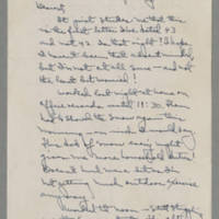 1943-01-09 Laura Davis to Lloyd Davis Page 1