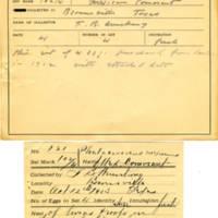 Thomas Wilmer Dewing, egg card # 078