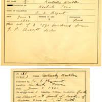 Thomas Wilmer Dewing, egg card # 542