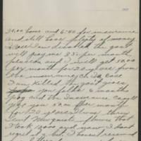 1917-10-16 Harvey Wertz to Miss Dorothy Wertz Page 2