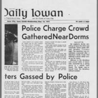 "1971-05-12 Daily Iowan Articles: """"Dorm Protesters Gassed by Police"""" """"Police Charge Crowd Gathered Near Dorms"""" Page 2"