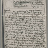 1943-07-07 Laura Davis to Lloyd Davis Page 1