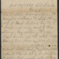 1897-10-18 Letter from Millie Huff Page 1
