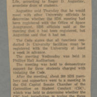 1969-12-13 Article: 'Code 'Violation' By SDS Probed' Page 1