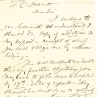 Hazard versus Thomas C. Durant legal draft report, Providence, R.I., September, 1880