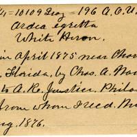 Clinton Mellen Jones, egg card # 043