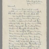 1942-07-31 Laura Davis to Lloyd Davis Page 1