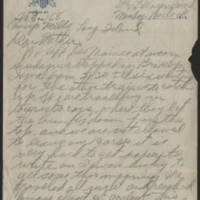 Harvey W. Wertz letters, 1917