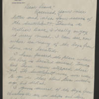 1945-05-19 J. Donald Hazen to Dave Elder Page 1