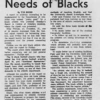 "1969-05-03 Daily Iowan Article: ""Report Stresses Needs of Blacks"""