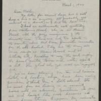 1944-03-01 Helen Fox to Bess Peebles Fox Page 1