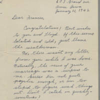 1942-01-15 Maurice Hutchison to Laura Frances Davis Page 1