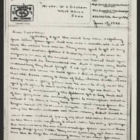 1944-06-15 M/Sgt. John W. Graham to Mr. & Mrs. W.J. Graham Page 1