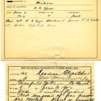 Thomas Wilmer Dewing, egg card # 364