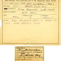 Thomas Wilmer Dewing, egg card # 246