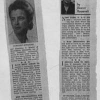 "1953-11-23 Des Moines Tribune Article: """"My Day"""" by Eleanor Roosevelt"