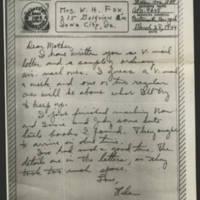 1944-03-28 Helen Fox to Bess Peebles Fox