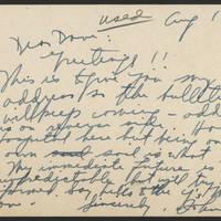 1944-08-19 Postcard