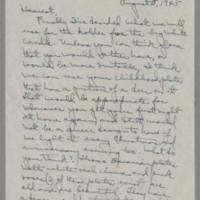 1945-08-05 Laura Davis to Lloyd Davis Page 1