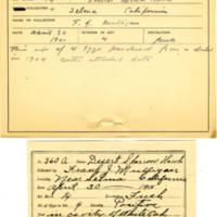 Thomas Wilmer Dewing, egg card # 239