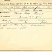 Thomas Wilmer Dewing, egg card # 085