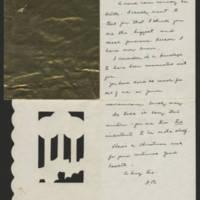 Cora Whitley correspondence, 1921-1935