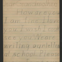 Undated letter to Grandmother