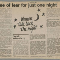"""Daily Iowan Article: """"Free of fear for just one night"""""""