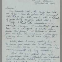 1942-09-28 Bessie Hutchison to Laura Frances Davis Page 1