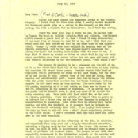 Correspondence to and from Nile Kinnick, friends and family regarding his championship football season, August-December 1939