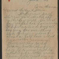 Thomas W. Messenger correspondence, January-April 1919, August 1923