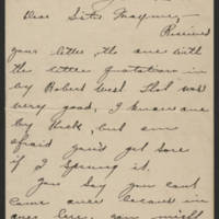 Francis McDermott letters, June-December 1918
