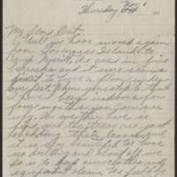 1917-11-01 Harvey Wertz to Miss Dorothy Wertz Page 1