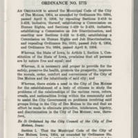 Ordinance on Human Rights and Job Discrimination Page 1
