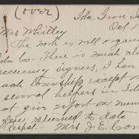 1917-10-16 Mrs J.E. Conn to Mrs. Whitley Page 1