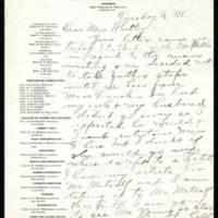 Elizabeth M. Howell to Mrs. Whitley Page 1