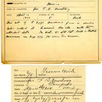 Thomas Wilmer Dewing, egg card # 412