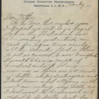 1917-10-08 Harvey Wertz to Mr. L.A. Wertz Page 1