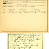 Thomas Wilmer Dewing, egg card # 727u