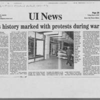 """1970-06 Iowa Alumni Review """"""""At the U of I and over the nation May was a time of Student Protest"""""""" Page 5"""