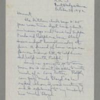 1942-10-31 Laura Davis to Lloyd Davis Page 1