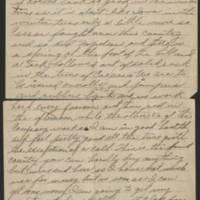 1917-12-20 Harvey Wertz to Miss Dorothy Wertz Page 2