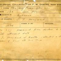 Thomas Wilmer Dewing, egg card # 127